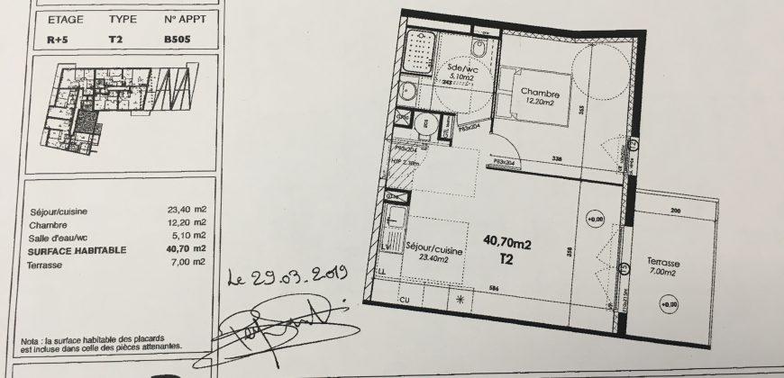 Appartement type 2 dans résidence neuve
